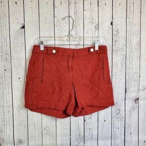 White House black market linen shorts size 2